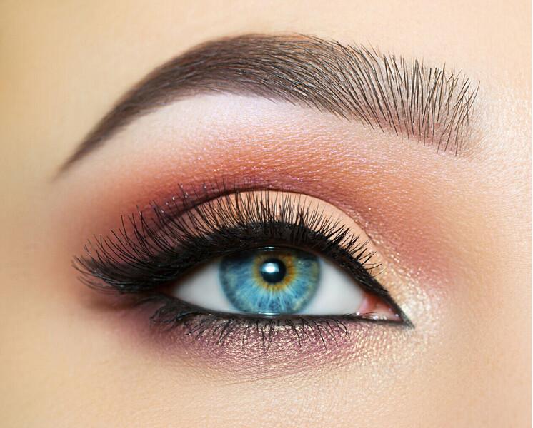 Geschminkten Auge
